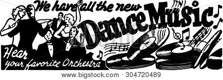 All The New Dance Music - Retro Ad Art Banner