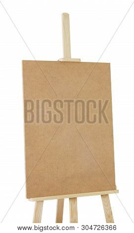 Easel For Professional Isolated On White Background. Saved Clipping Path