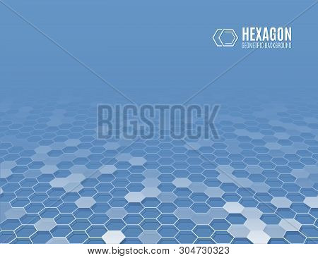 3d Polygonal Layout For Presentation. Futuristic Technology Vector Illustration. Abstract Perspectiv
