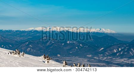 View To Zapadne And Vysoke Tatry Mountains With Velka Fatra Mountains On The Frontside From Martinsk