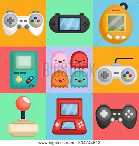 A Vector Collection Of Many Console Controller And Handheld