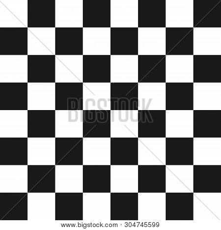 Creative Illustration Of Chess Board Set Isolated On Background. Art Design Checkered, Checkerboard,