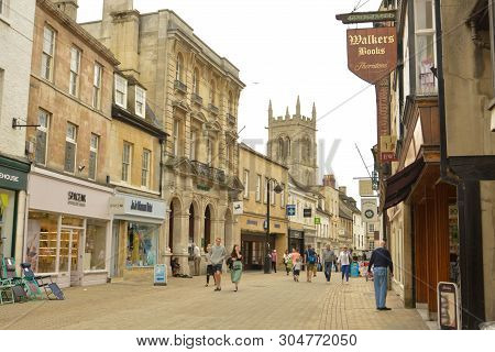 Stamford, United Kingdom. May 31, 2019 - Street View Of City Centre.old Buidings, Stamford England