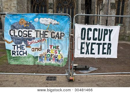 Occupy Exeter Celebrate Their Achievements As They Leave Their Camp On Exeter Cathedral Green Follow