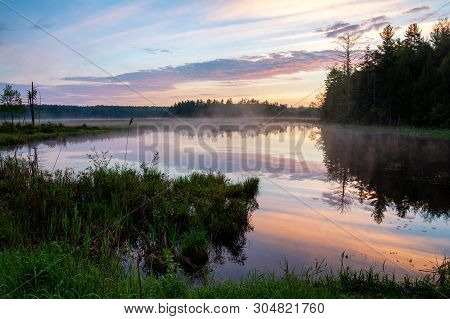 Swamp On Fish House Road In Gallway New York, Adirondacks