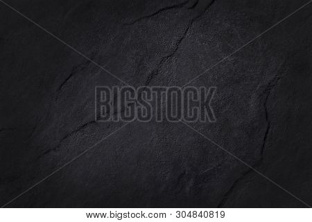 Dark Grey Black Slate Texture In Natural Pattern With High Resolution For Background And Design Art