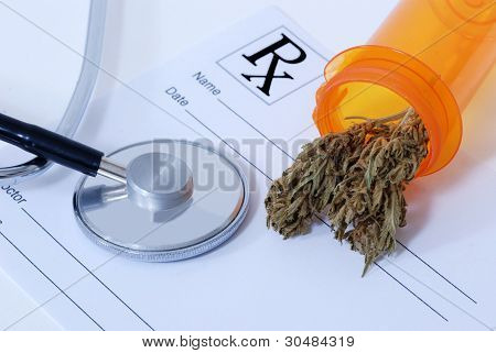 Cannabis Bud Near Medical Items