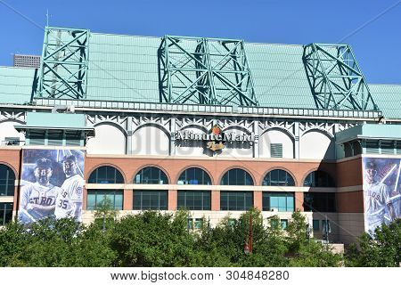 Houston, Tx - Apr 20: Minute Maid Park In Houston, Texas, As Seen On Apr 20, 2019. It Opened In 2000