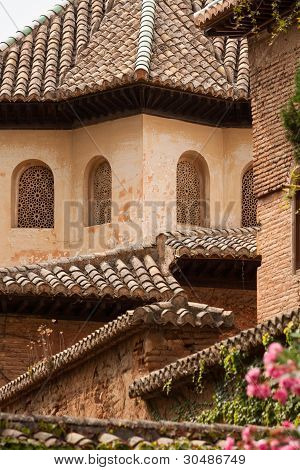 Roof Detail From Inside The Alhambra Palace In Granada
