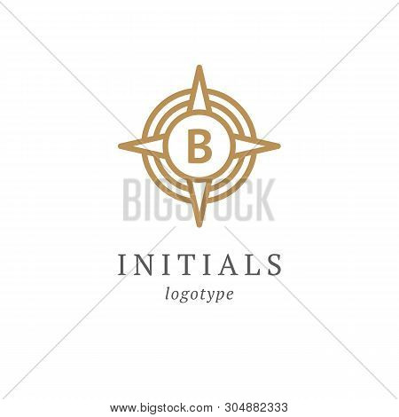 Letter B Vector Logo. Vintage Insignia And Logotype. Business Sign, Identity, Label, Badge Initials.