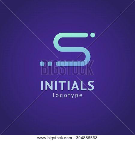Monogram Design Elements, Graceful Template. Minimalistic Logo Design. S Logo Line Art Monogram. Let