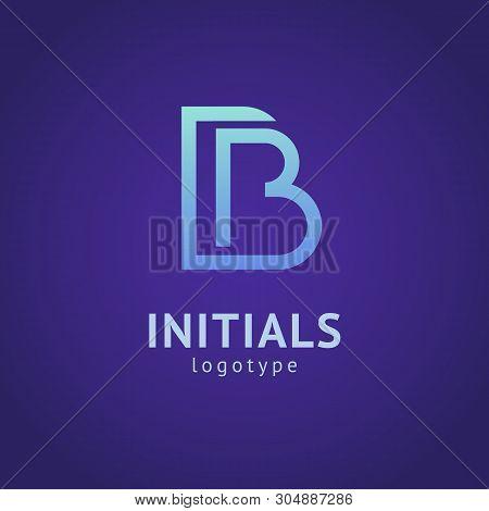 Monogram Design Elements, Graceful Template. Minimalistic Logo Design. B Logo Line Art Monogram. Let