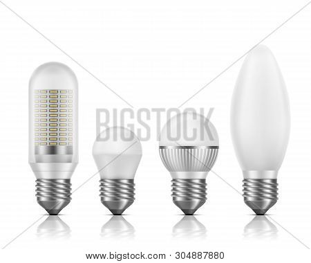 Different Shapes And Sizes, Modern High Efficient, Longer High-power Bulbs With Smd Led Chips Module