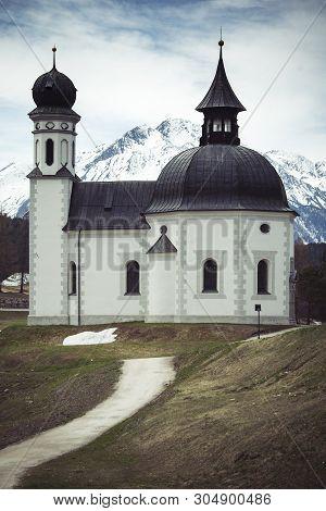 Alpine Church At Seefeld In Austrian Tyrol