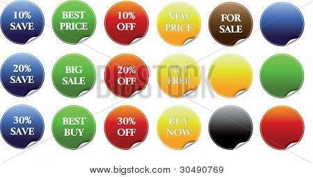 trade discount labels vector collection