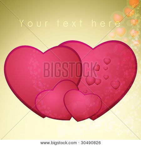 Heart, valentines day - vector illustration