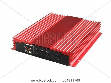 Power Amplifier For Car (with Clipping Path) Isolated On White Background
