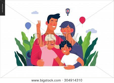 Medical Insurance Template -family Health And Wellness -modern Flat Vector Concept Digital Illustrat