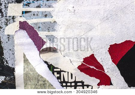 Old Posters Ripped Torn Creased Crumpled Paper Grunge Textures Backgrounds Surface Backdrop