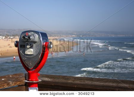 Red Scope Overlooking Coast
