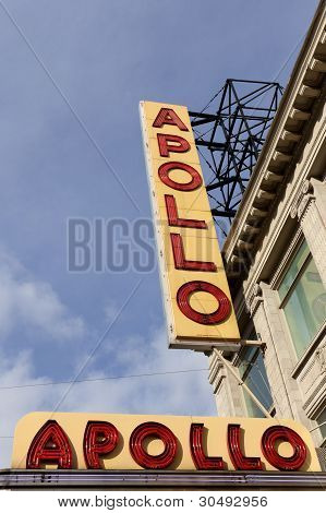 Sign Outside Of Apollo Theater On January 8, 2012 In New York City, Usa.