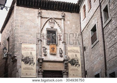 Architectural Detail Of The Posada De La Hermandad, A Building In The Historic Center  Of Toledo, Sp