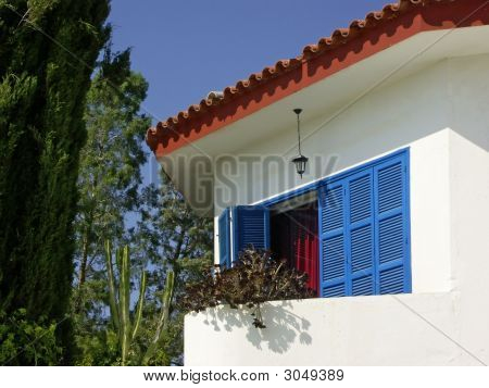 The famous Blue House or Mavi Kosk TRNC. poster