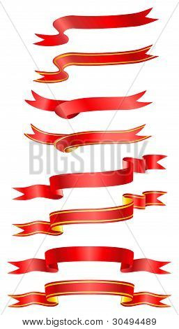 Ribbons isolated on white