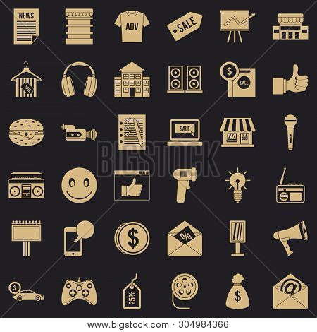Merchandising Icons Set. Simple Set Of 36 Merchandising Vector Icons For Web For Any Design
