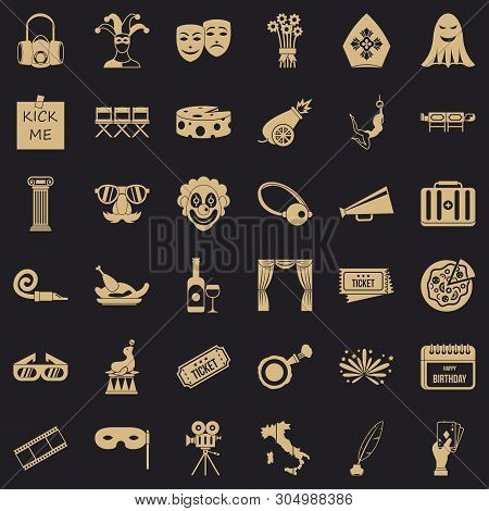 Dramatization Icons Set. Simple Set Of 36 Dramatization Vector Icons For Web For Any Design