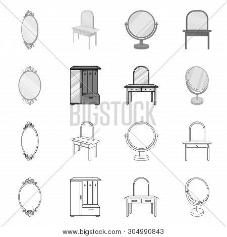 Isolated Object Of Imagery And Decorative Logo. Collection Of Imagery And Silver Stock Vector Illust