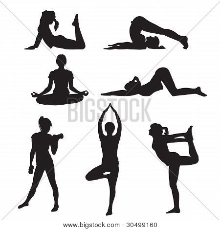 Girl Yoga Silhouette