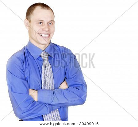 Open Smiling Attractive Young Man