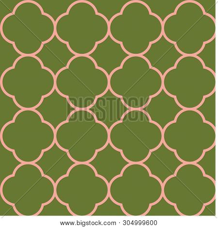 Quatrefoil Seamless Repeat Pattern Desing. Perfect For Textile Design And Background