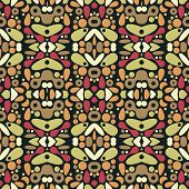 Seamless psychedelic ornament. Beautiful patterns in vector. poster