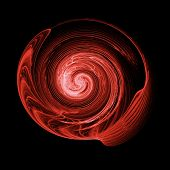 abstract chaos swirl rays on dark background poster