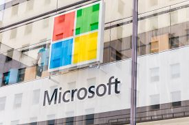 New York, Usa - May 15, 2019: Microsoft Store In Manhattan. Microsoft Is Worlds Largest Software Mak