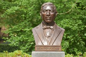 Houston, Tx - Apr 18: Benito Juarez At Hawkins Sculpture Walk At Mcgovern Centennial Gardens, Herman