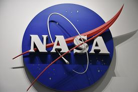 Houston, Tx - Apr 19: Nasa Sign At Space Center In Houston Texas On April 19 2019. Its A Science And