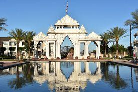 Houston, Tx - Apr 20: Baps Shri Swaminarayan Mandir In Houston, Texas, As Seen On Apr 20, 2019.  The