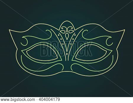 Gold Carnival Mask. Vector Isolated Illustration.carnival Mask Accessory. Mardi Gras