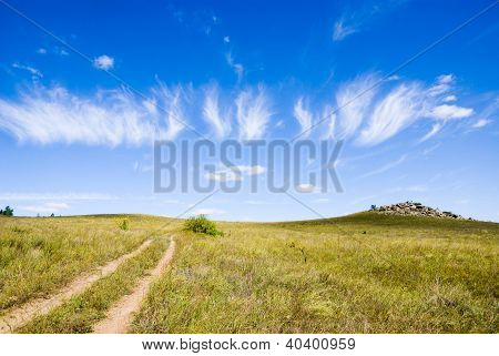 Steppe Dirt Road