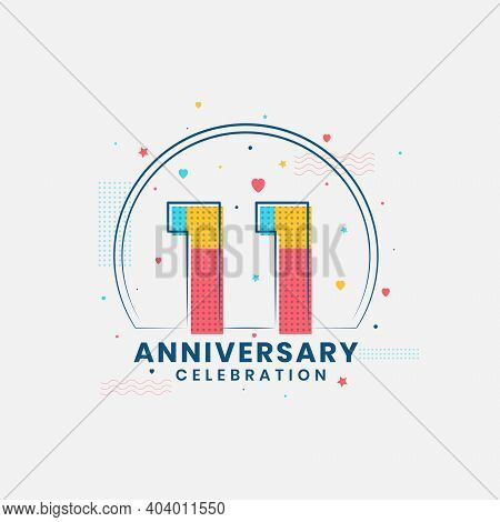11 Years Anniversary Celebration, Modern 11th Anniversary Design