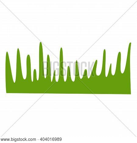 Green Grass. Graphic Element Isolated On White Background. Vegan Or Vegetarian Food. Health And Body