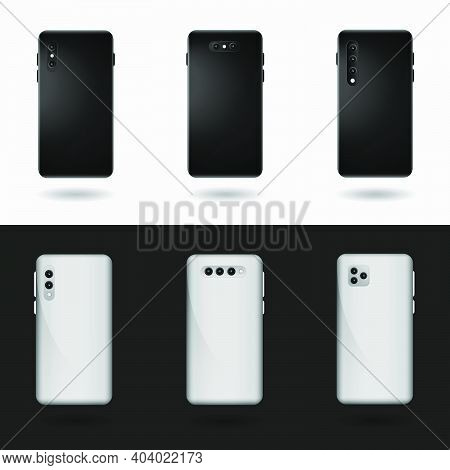Realistic Vector Smartphone Pack With Back Design