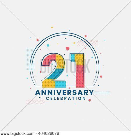 21 Anniversary Years Celebration, Modern 21st Anniversary Design