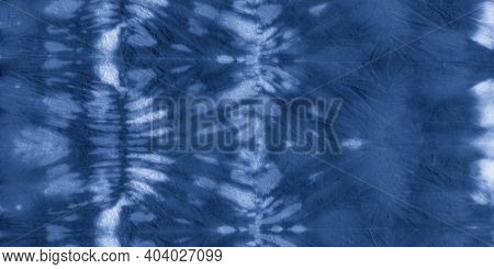 Sea Tie Dye Pattern. Irregular Retro Print. Watercolour Spots Print. Clouds Brush Painting. Shibori