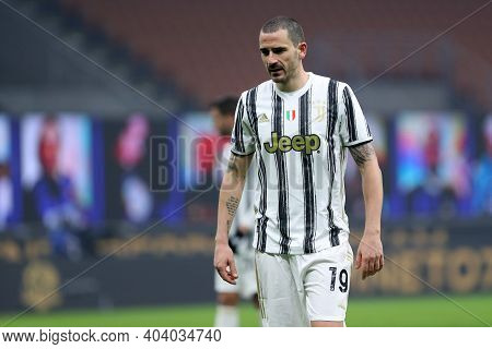 Milano, Italy. 17th January 2021 . Leonardo Bonucci Of Juventus Fc  During The Serie A Match Between