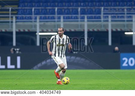 Milano, Italy. 17th January 2021 . Giorgio Chiellini Of Juventus Fc  During The Serie A Match Betwee