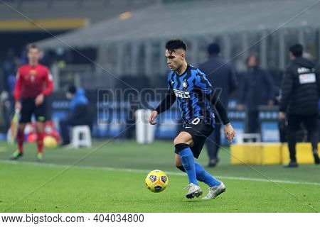 Milano, Italy. 17th January 2021 . Lautaro Martinez Of Fc Internazionale  During The Serie A Match B